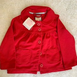 Janie and Jack Red Jacket NWT 18-24 months
